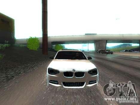 BMW M135i para vista lateral GTA San Andreas