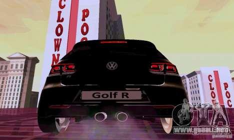 Volkswagen Golf GTI 2011 para GTA San Andreas vista posterior izquierda