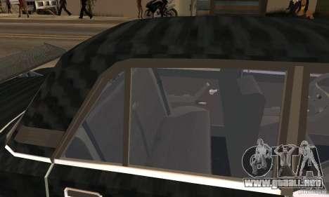 LADA 2107 Turbo para GTA San Andreas vista hacia atrás