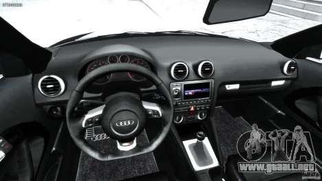 Audi S3 para GTA 4 vista hacia atrás