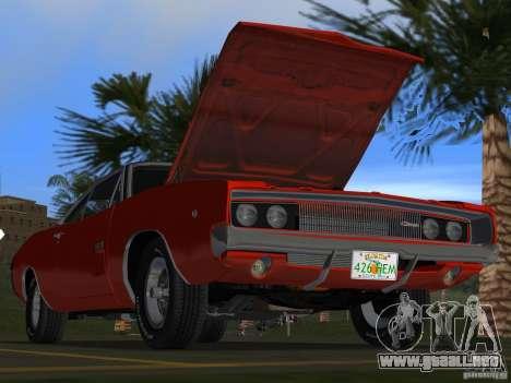 Dodge Charger 426 R/T 1968 v1.0 para GTA Vice City interior