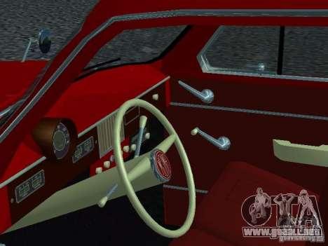 Moskvich 430 para GTA San Andreas vista hacia atrás