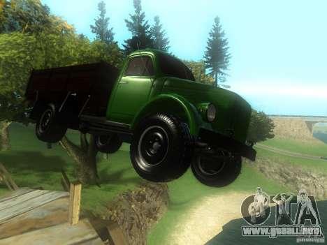 Gaz-63 para GTA San Andreas vista hacia atrás