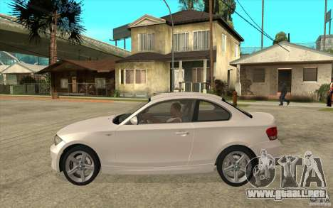 BMW 135i Coupe para GTA San Andreas vista posterior izquierda
