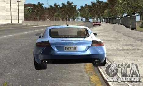 Audi TT 2006 para la visión correcta GTA San Andreas