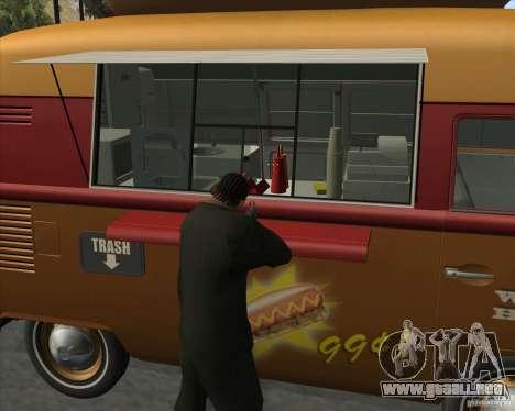 Volkswagen Transporter T1 Hot Dog para la visión correcta GTA San Andreas