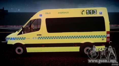 Mercedes-Benz Sprinter PK731 Ambulance [ELS] para GTA motor 4