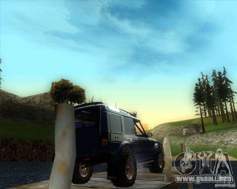 Landrover Discovery 2 Rally Raid para GTA San Andreas left