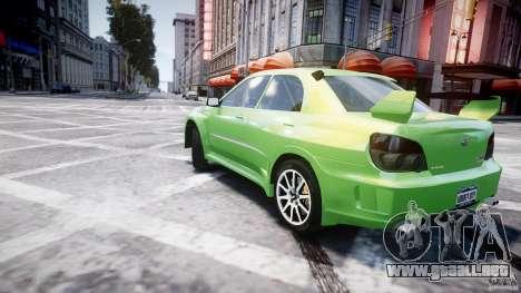 Subaru Impreza STI Wide Body para GTA 4 vista desde abajo