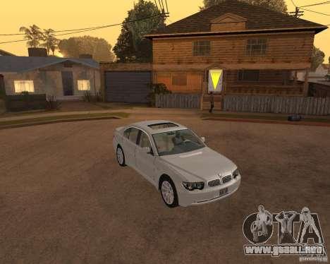BMW 760I 2002 para la visión correcta GTA San Andreas