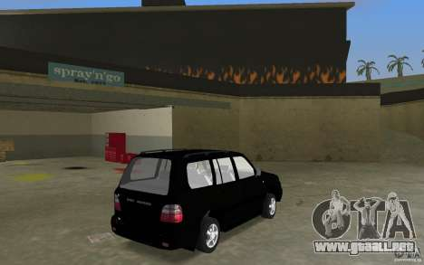 Toyota Land Cruiser 100 VX V8 para GTA Vice City vista lateral izquierdo