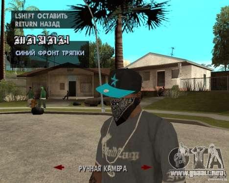 Hip-Hop caps para GTA San Andreas sexta pantalla