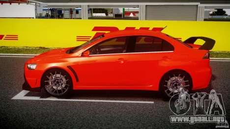 Mitsubishi Lancer Evo X 2011 para GTA 4 left