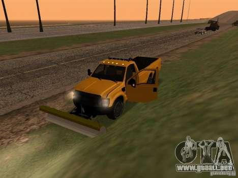 Ford Super Duty F-series para GTA San Andreas vista hacia atrás
