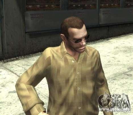Nuevas gafas para Niko-oscuro para GTA 4 tercera pantalla