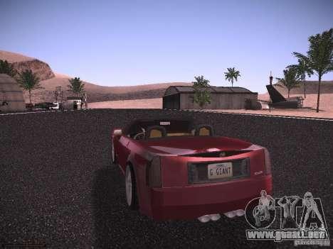 Cadillac XLR 2006 para la visión correcta GTA San Andreas