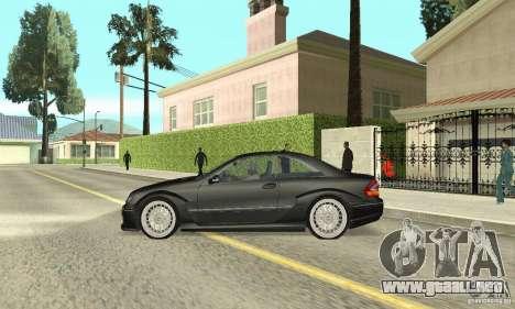 Mercedes-Benz CLK DTM AMG para GTA San Andreas vista posterior izquierda