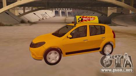Renault Sandero Taxi para vista inferior GTA San Andreas