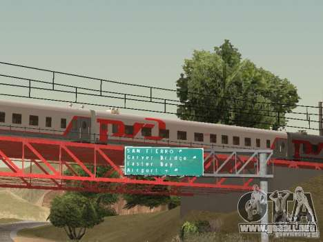 Coche de pasajeros RZD para GTA San Andreas left