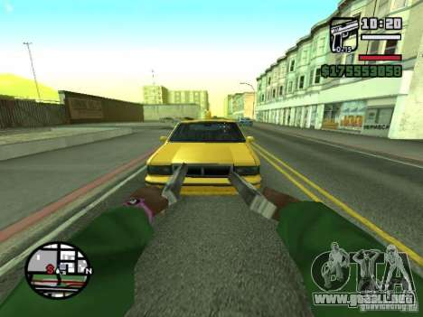 Primera persona (First-Person mod) para GTA San Andreas novena de pantalla