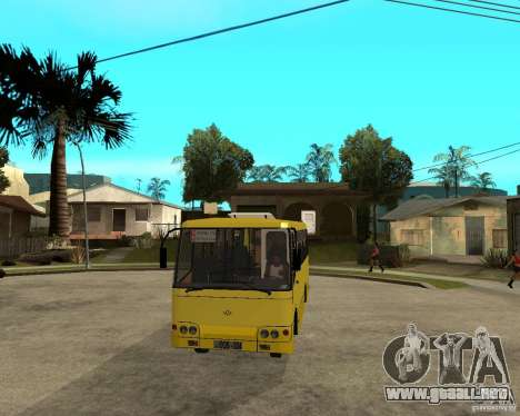 Bogdan Marshrutka A092 para visión interna GTA San Andreas