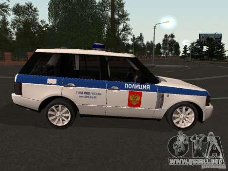 Range Rover Supercharged 2008 policía Departamen para la visión correcta GTA San Andreas