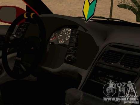 Nissan 300ZX JDM para GTA San Andreas vista hacia atrás