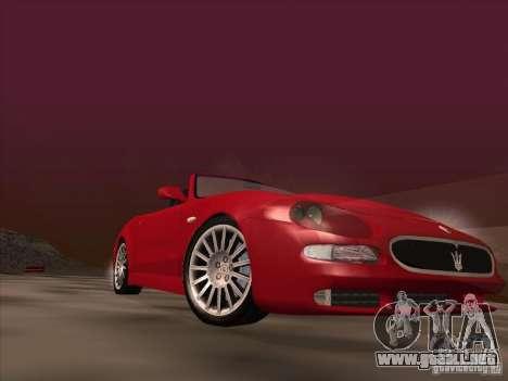 Maserati Spyder Cambiocorsa para vista inferior GTA San Andreas