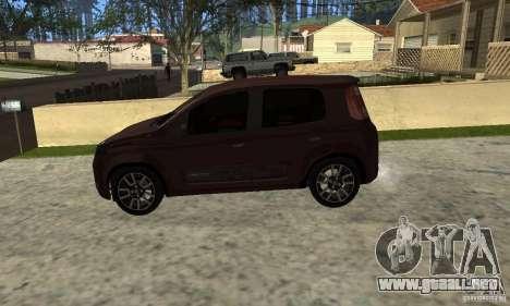 Fiat Novo Uno Sporting para la visión correcta GTA San Andreas