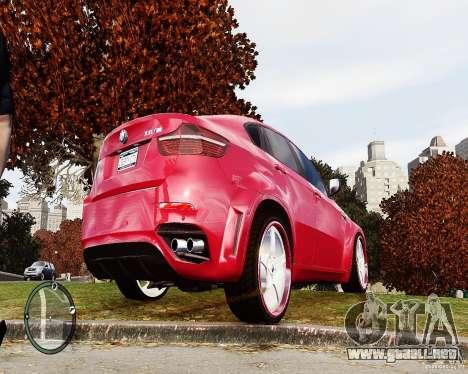 BMW X6M Lumma para GTA 4 Vista posterior izquierda