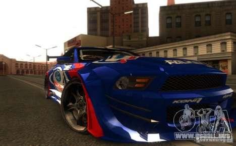 Ford Mustang Shelby GT500 V1.0 para GTA San Andreas vista posterior izquierda
