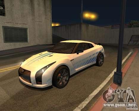 Nissan GT-R Pronto para visión interna GTA San Andreas