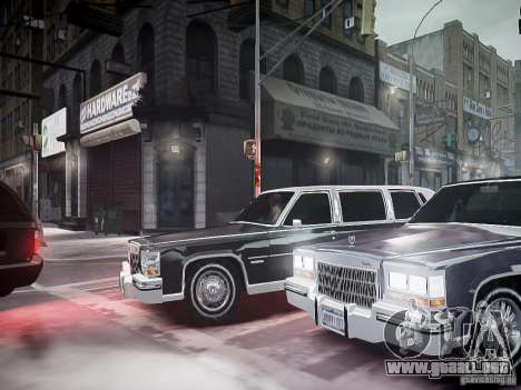 Cadillac Fleetwood 1985 para GTA 4 vista lateral