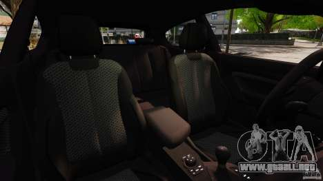 BMW M135i 2013 para GTA 4 vista interior