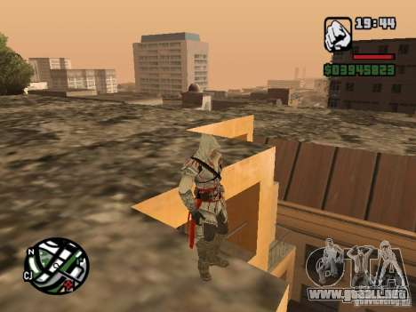 Ezio auditore de Firenze para GTA San Andreas tercera pantalla