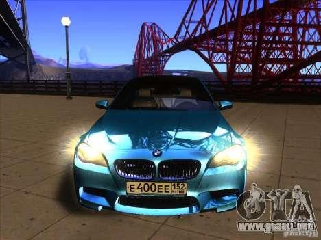 BMW 535i F10 para la visión correcta GTA San Andreas