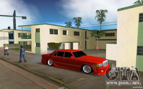 Mercedes-Benz W126 Wild Stile Edition para GTA Vice City vista lateral izquierdo