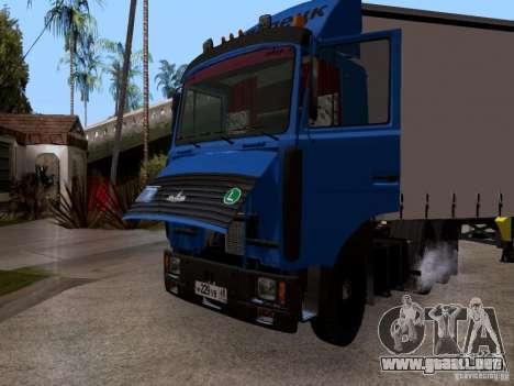 MAZ 642208 para GTA San Andreas vista hacia atrás