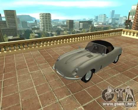 Jaguar E-Type 1963 para la visión correcta GTA San Andreas