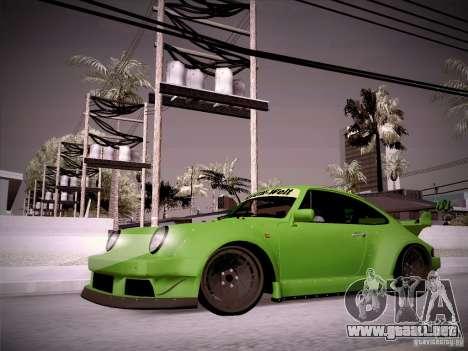 Porsche 911 Turbo RWB Pandora One para GTA San Andreas left