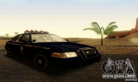 Ford Crown Victoria Nevada Police para GTA San Andreas