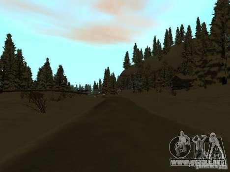 Camino de invierno para GTA San Andreas octavo de pantalla