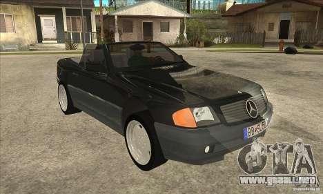Mercedes SL-class 1995 para GTA San Andreas vista hacia atrás