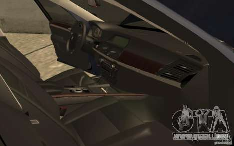 BMW X5 M 2009 para visión interna GTA San Andreas