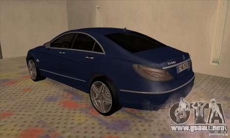 Mercedes-Benz CLS63 AMG 2012 para la visión correcta GTA San Andreas