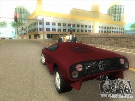 Infernus de GTA IV para GTA Vice City visión correcta