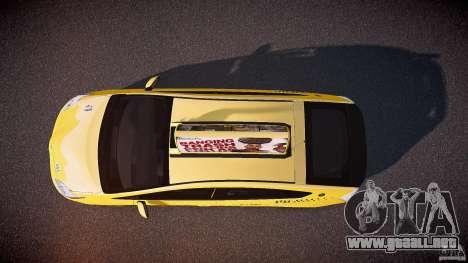 Toyota Prius LCC Taxi 2011 para GTA 4 visión correcta