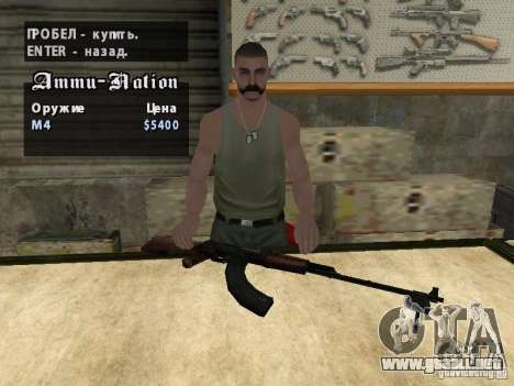 EL PKK para GTA San Andreas sexta pantalla