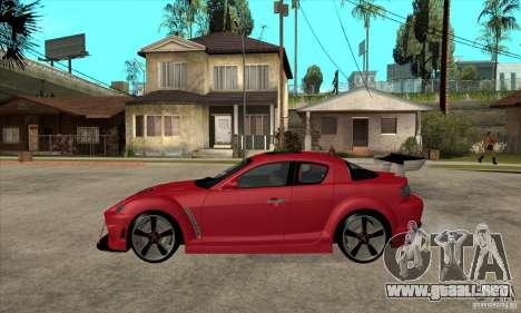Mazda RX8 para GTA San Andreas left