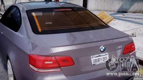 BMW M3 E92 stock para GTA 4 ruedas